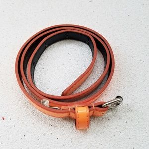 Just the Right Touch of Orange Thin Vinyl Belt